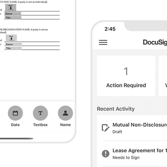 The new DocuSign mobile app