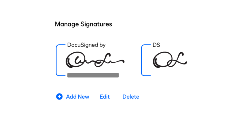 Creating an eSignature in DocuSign