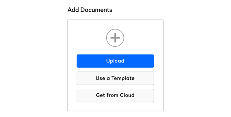 Uploading a document for eSignature