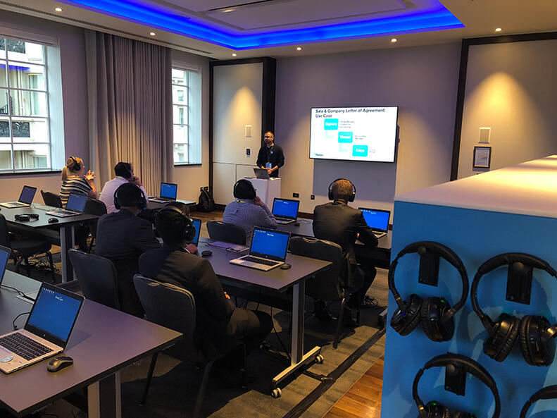 The first of six Pathway Labs begin, kicking off with Core Envelope Sending Components. The Labs are twenty-minute sessions providing intuitive training and tips to get the most out of DocuSign.