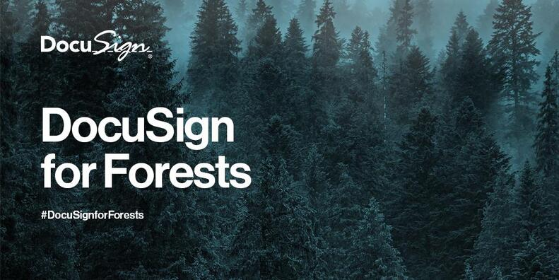At WEF this year we announced the 'DocuSign for Forests' initiative—a commitment to help protect the world's forests that includes financial donations, support for non-profit organisations, and a commitment to donate 1% of expanded revenues from customers that pledge to improve their paper-use practices.