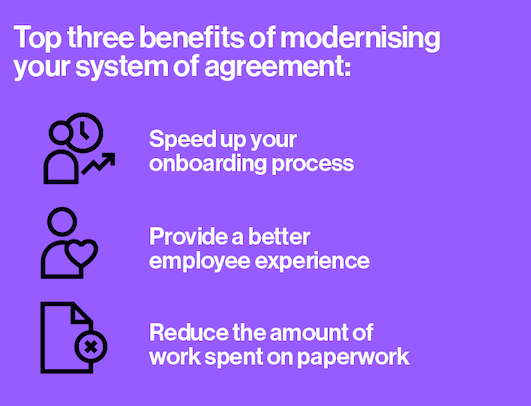 modernise your system of agreement in HR