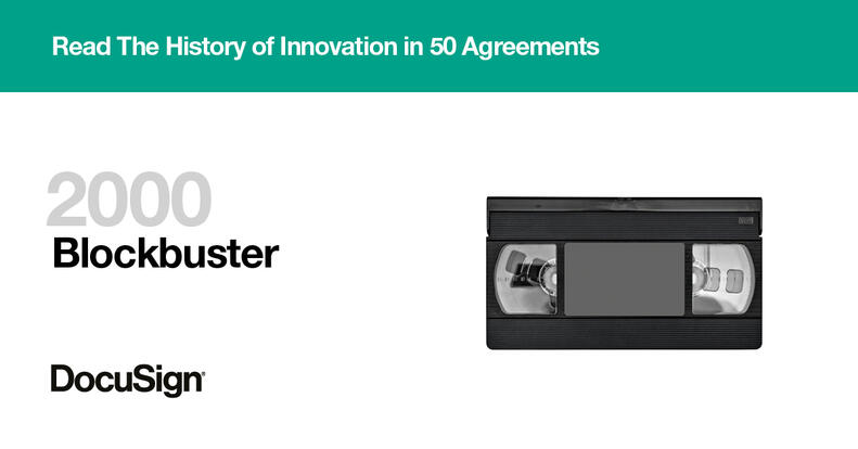 Blockbuster agreement story History of Innovation in 50 agreements