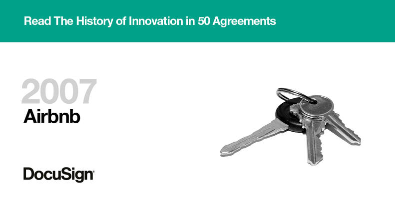 Airbnb story History of Innovation in 50 Agreements