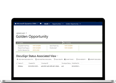 DocuSign for Dynamics 365 CRM allows users to quickly get signatures or sign documents from anywhere in Dynamics CRM