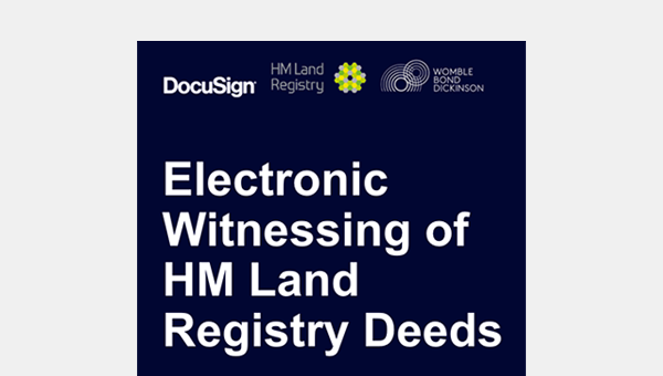 Webinar with HM Land Registry on Witnessed Electronic Signature