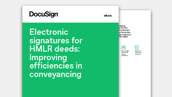 Electronic signature for HMLR deeds