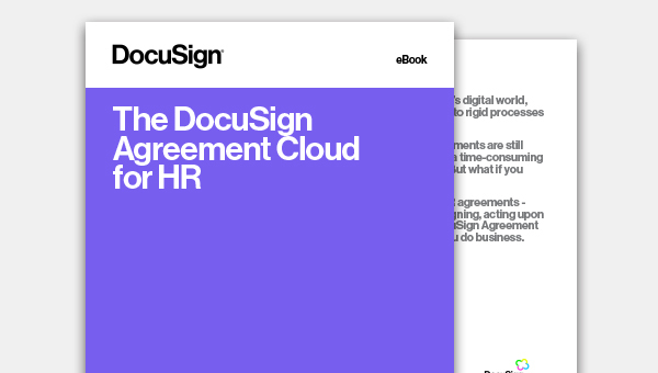 Image of The DocuSign Agreement Cloud for HR