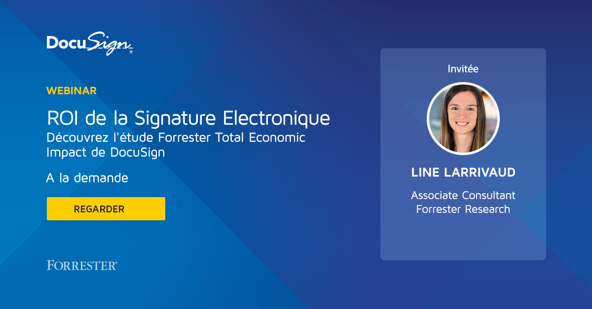 Total Economic de DocuSign par Forrester