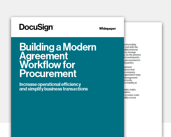Building a Modern Agreement Workflow For Procurement eBook