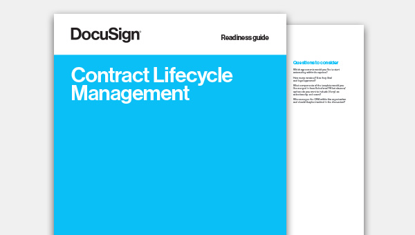 Download the Contract Lifecycle Management Readiness Guide