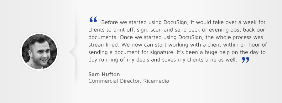 Using DocuSign for Google has been a seamless experience.