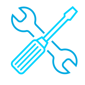 Icon of a wrench and a screwdriver.