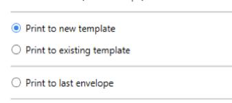 DocuSign Print Driver options