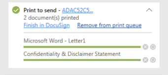 DocuSign Print Driver dialog box