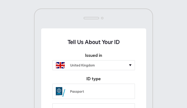 DocuSign Identify screenshot requesting details on the type of ID.