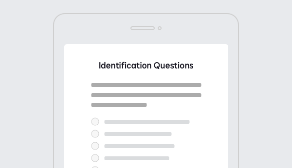 Screenshot showing questions that are part of KBA within DocuSign Identify.