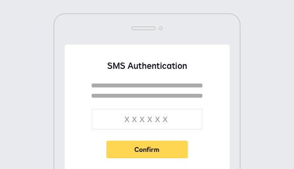 Screenshot showing SMS or call-based authentication with DocuSign Identify.