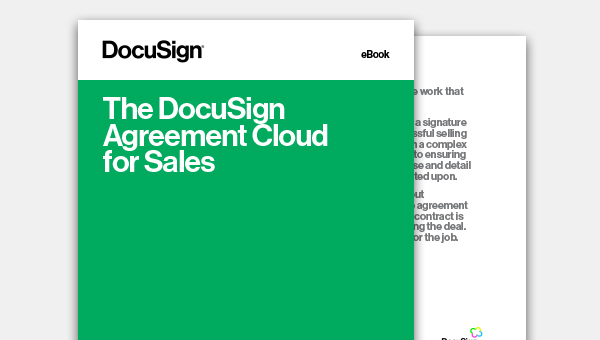 Read the eBook and discover how the DocuSign Agreement Cloud can completely revolutionise your sales process.